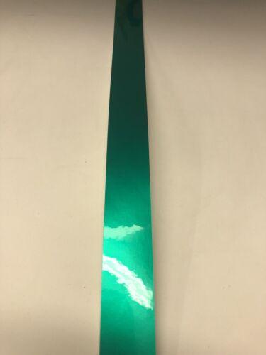 "Green Chrome 1"" Full Size Football Helmet Stripe Decal 20 Mil High Quality."