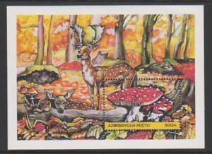 Azerbaijan - 1995, Fungi & Deer sheet - MNH - SG MS260