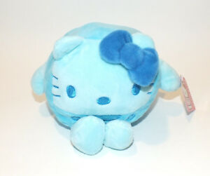 Hello Kitty Plush Sanrio Blue Cube Stackable Stuffed Animal 6 Toy