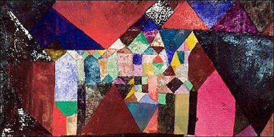 Paul Klee  Municipal Jewel Keilrahmen-Bild Leinwand abstrakt Kubismus
