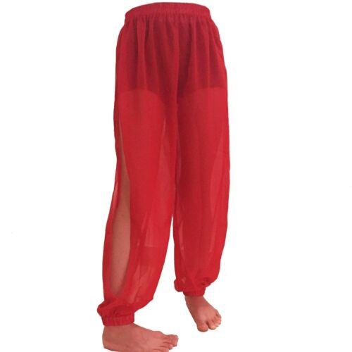 Chiffon Slit Harem Yoga Pant Belly Dance Trouser Genie Pantaloons Student XS-XL