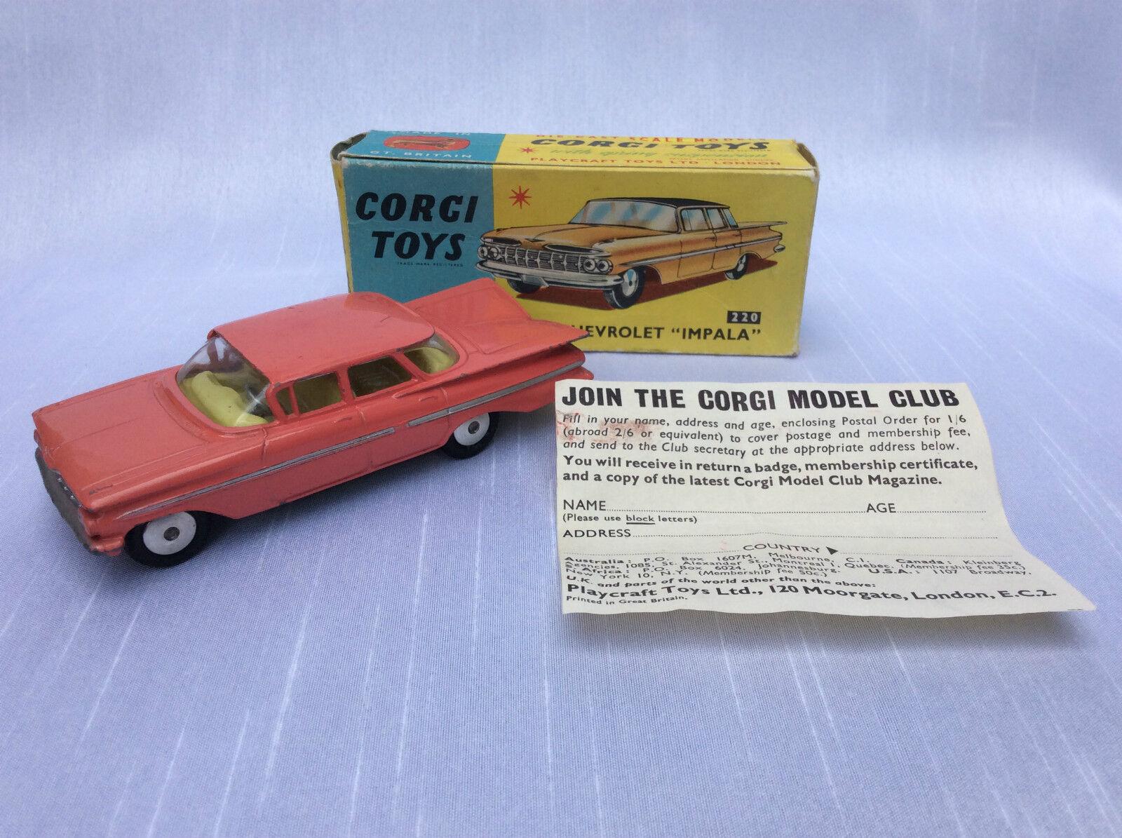 Corgi toys no. 220 Chevrolet Impala Pink ovp