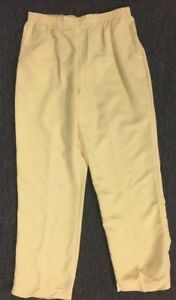 Alfred Dunner Womens Elastic Waist Solid PULL ON Casual Pants BANANA Yellow