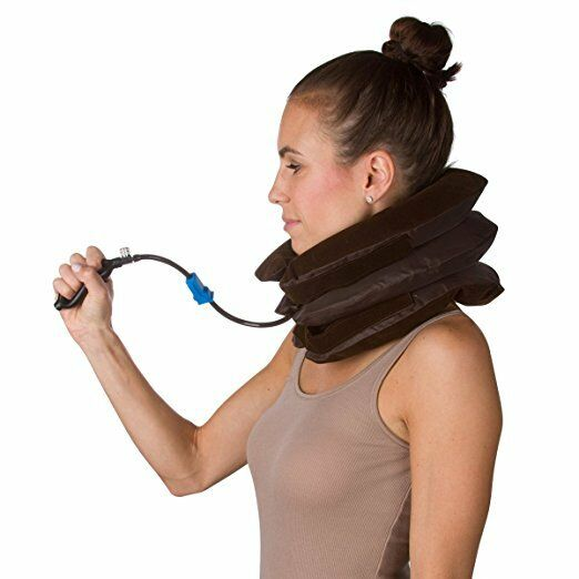Cervical Neck Traction Device Inflatable Shoulder Pain Relief Brace Collar For Online Ebay