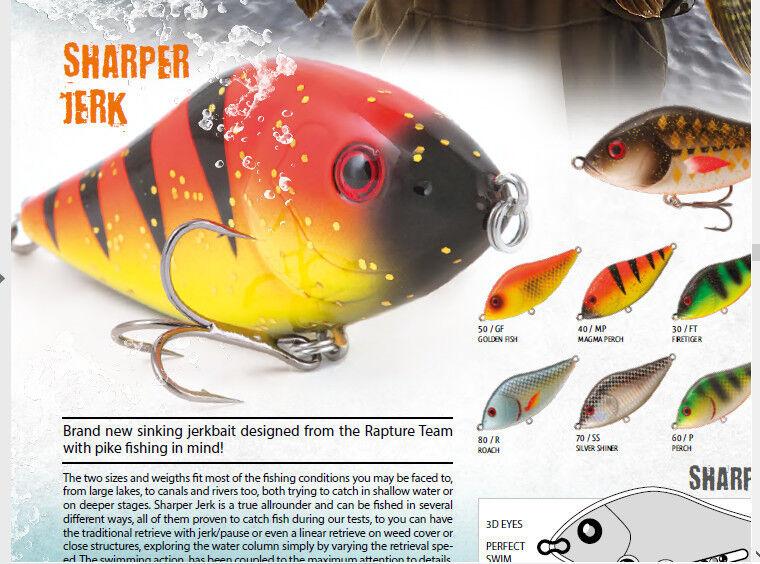 Sharper Jerk Jerkbait pike fishing lure 47g 100m + rattle .99 or .00 for 5