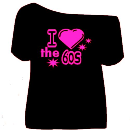 1990`S 1980`S 1970`S 1960`S off the shoulder T Shirts  Fancy Dress Party xs-5x