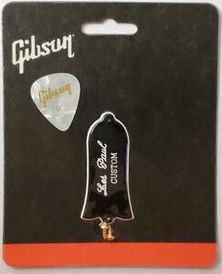 Gibson-Les-Paul-Custom-Truss-Rod-Cover-2-Ply-or-avec-vis-d-039-origine-avec-Pick