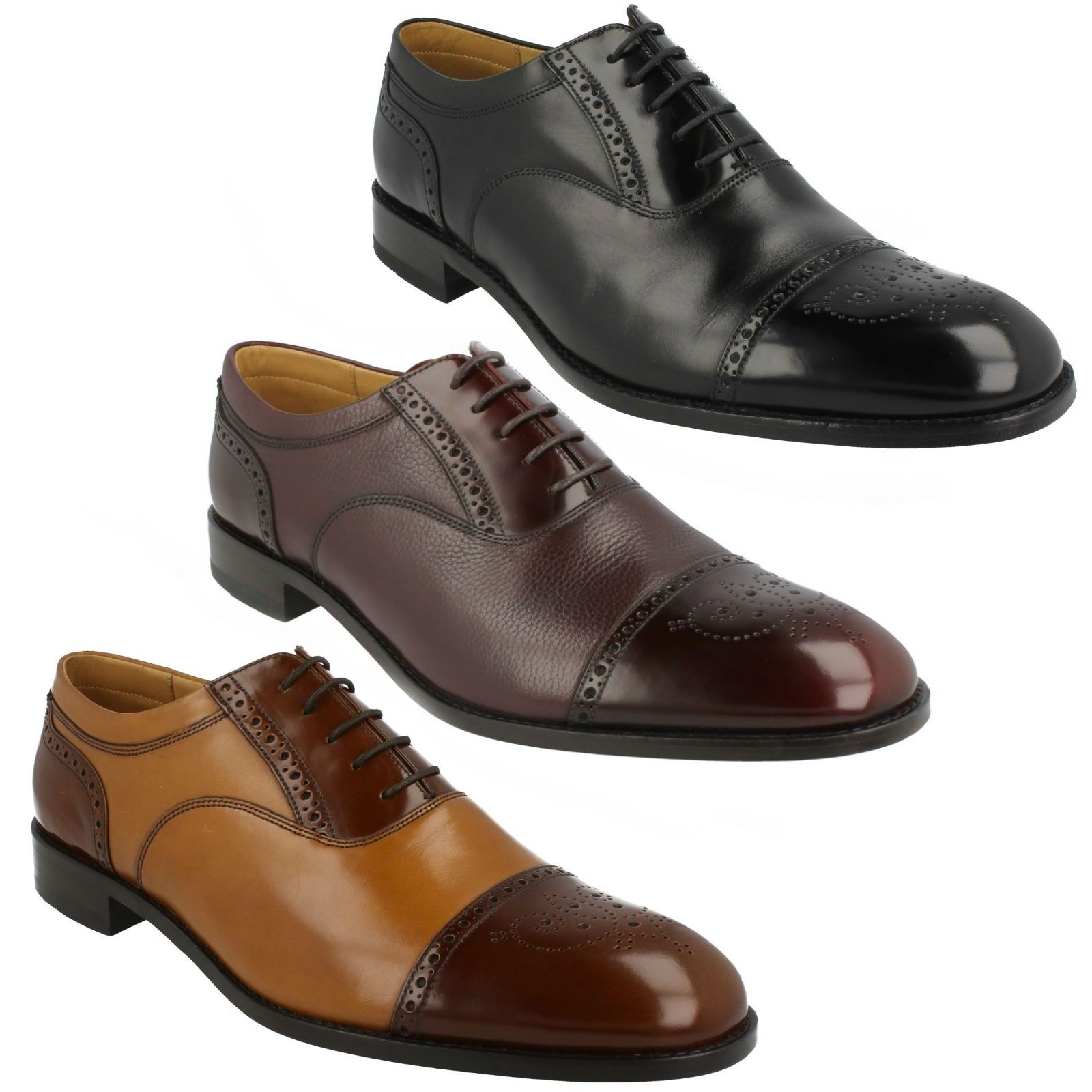 LOAKE WOODSTOCK MENS CALF POLISHED LEATHER WIDE LACE UP OXFORD SEMI BROGUE schuhe  | Exquisite Verarbeitung