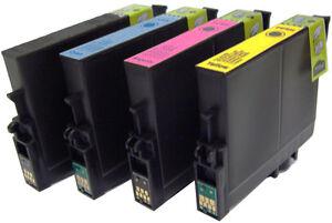 Ogni-4-CARTUCCE-INCHIOSTRO-PER-EPSON-STYLUS-C64-C-64-COLORI-STAMPANTE-A-GETTO-D-039-INCHIOSTRO