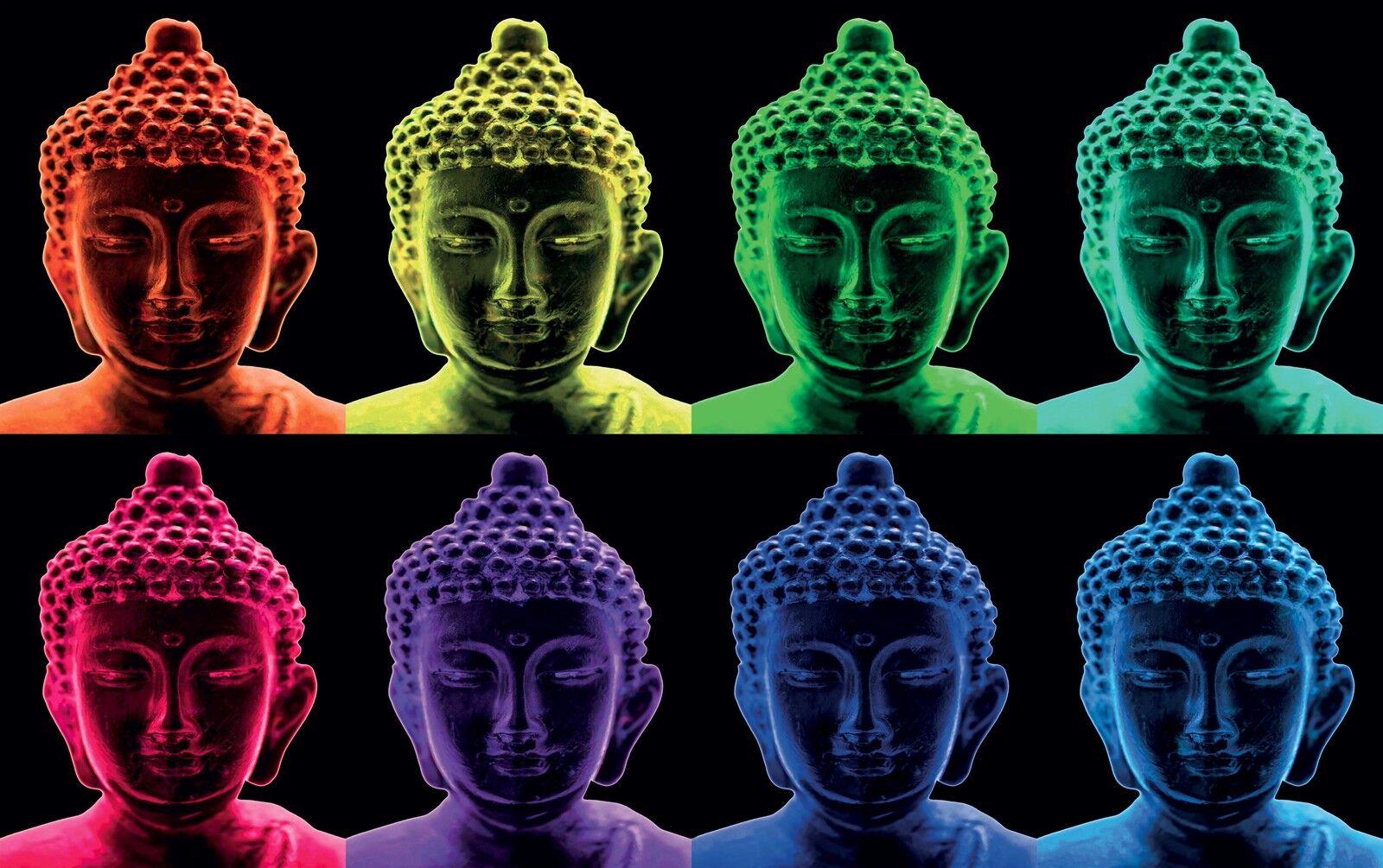 Plakat Plakat Buddha Design Ref 13 (3 Größen, Papier Matt oder Papier Foto)
