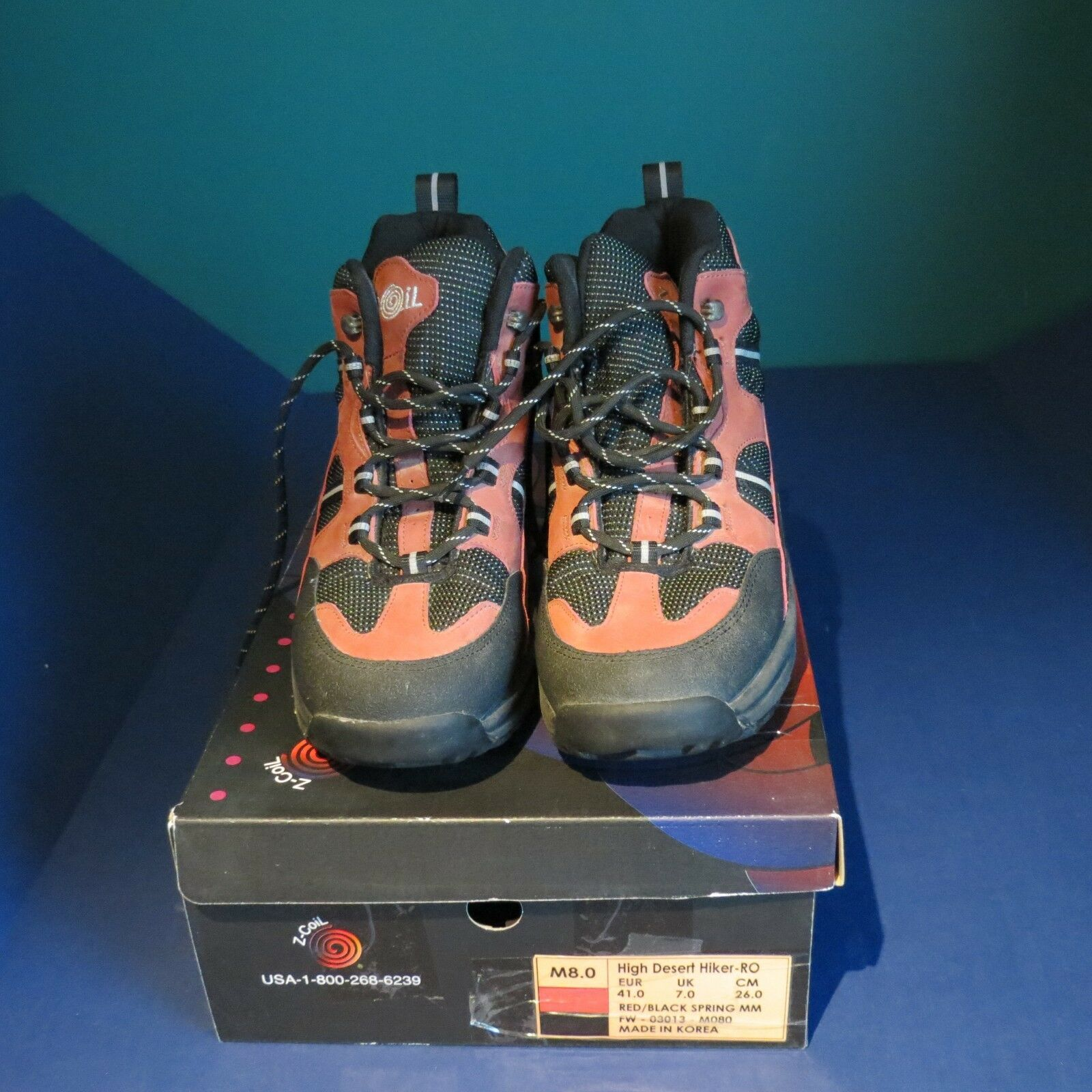 EUC EUC EUC Z-coil pain relief footwear womens 10 mens 8 salmon color hiker used 3 times dd3045