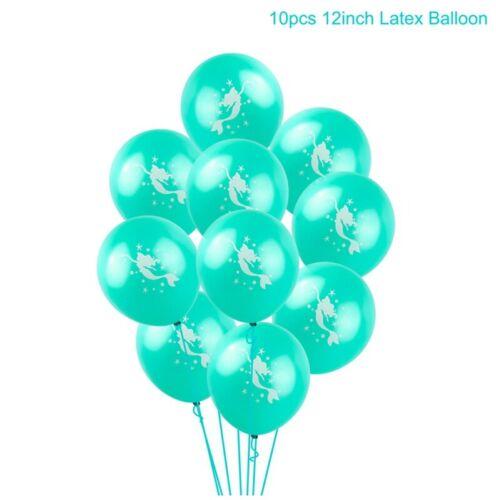 Mermaid Papier Bannière Latex Ballons Baby Shower Fête D/'Anniversaire Décoration Fournitures