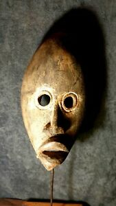 Mask-African-Carved-Wood-Tribal-Wall-Hand-Vintage-Art-Wooden-Face-Decor-1081
