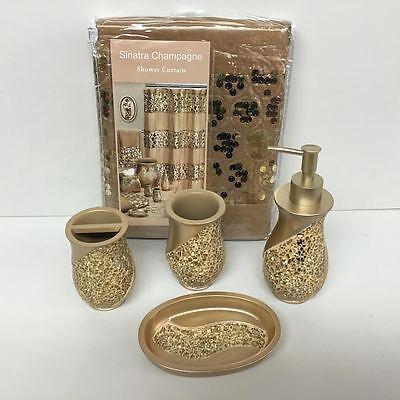 Resin Bath Accessories Set, Sinatra Bathroom Accessories