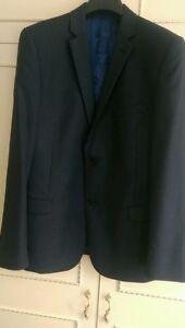 uomo blu realizzata Grandi 36 38 in Baker Suit da cuoco Ted da da navy pollici da autentico Tuta Pantaloni pollici n6w8qTXx