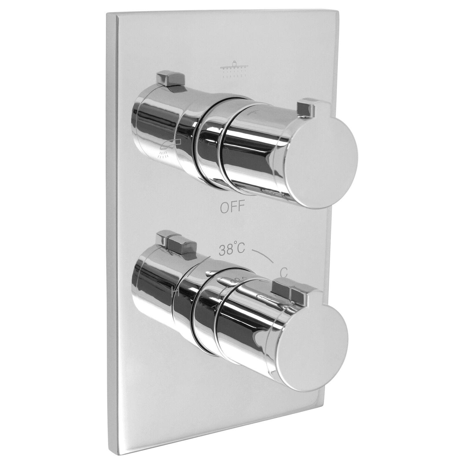Welfenstein 3 Wege Thermostat Armatur Unterputz Umsteller Dusche Wanne T-A09