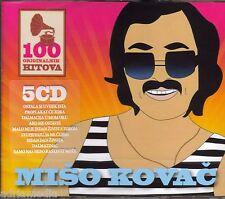 MISO KOVAC 5 CD Box 100 originalnih pjesama Hit Croatia Dalmacija u mom oku Best