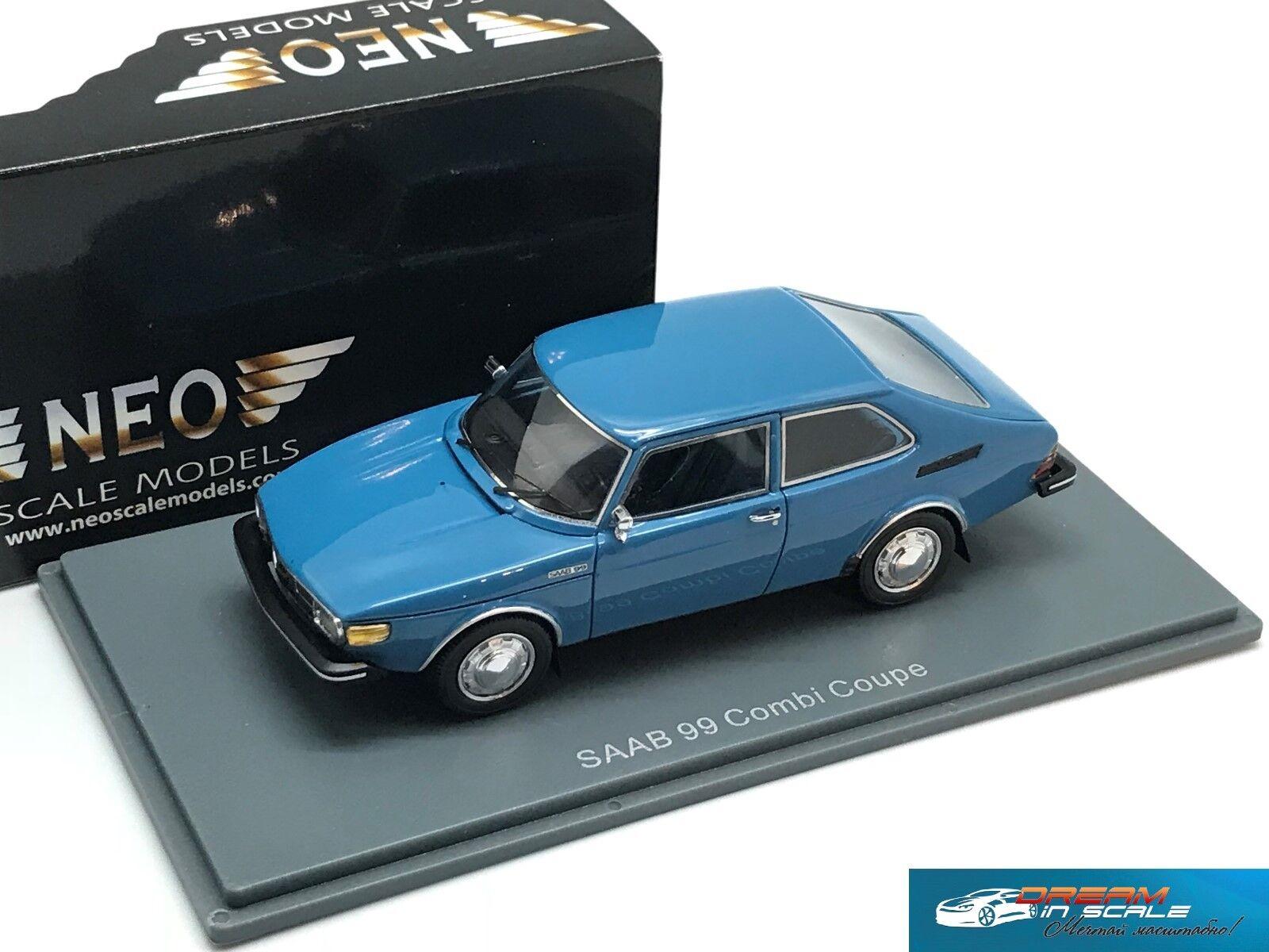 RARE  Saab 99 Combi Coupe  bluee 1975  NEO 43760  1 43