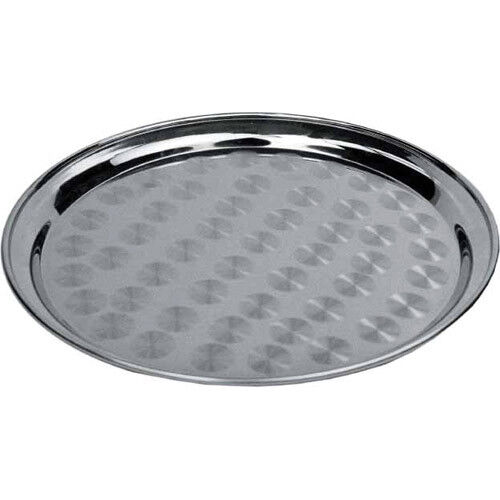 Winware By Winco Round Tray Stainless, Round Stainless Steel Tray