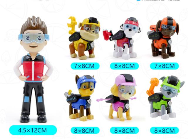 2019 Neu Set of 7 Paw Patrol Pup Deluxe Spiel Figuren Spielfiguren Spielzeug