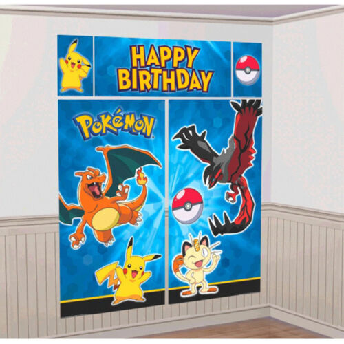Pokemon Pikachu And Friends Scene Setter 5 Pcs Wall Decoration Kit Party Supplies