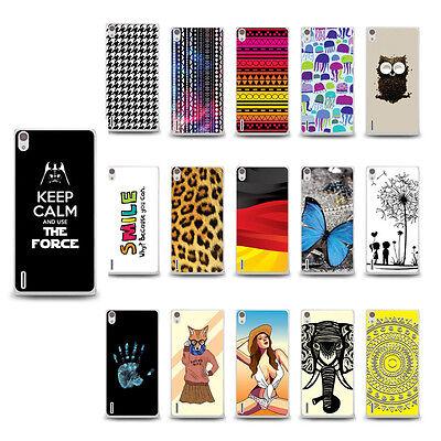 Schutzhülle Huawei Ascend P7, Slim Design Case Etui + 2x Schutzfolie