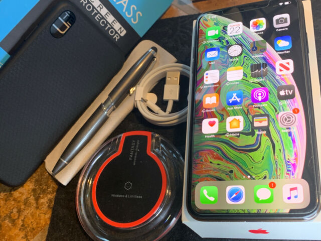 Apple iPhone XS MAX (256gb) AT&T/ Cricket/ h2o (A1921) MiNT ExTRAs {iOS13}98%