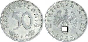 Third Reich 50 Pfennig 1944 F Vf-Xf (2) 30169