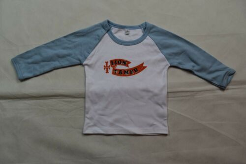 TAKE THAT LION TAMER 12 MONTH OLD BASEBALL JERSEY L//S T SHIRT NEW OFFICIAL RARE