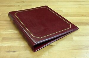 Stamp Album Cover 4 Ring Binder Cushioned in very good condition.