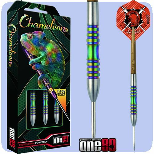 One80 Chameleon Coral 24g Tungsten Darts Set with Free Solibox