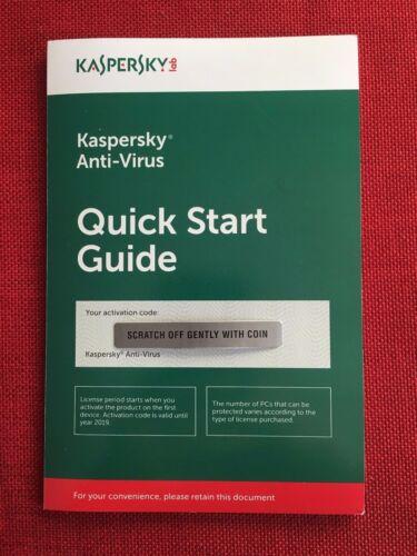 FREE USPS Shipping Kaspersky Antivirus Anti-Virus 2018 1 PC 1 Year
