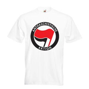 Antifa-T-shirt-Mens-White