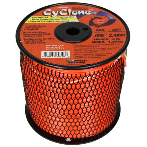 "Cyclone CY095S3 .095/"" x 1710 Ft Commercial Grass Weed String Trimmer Edger Line"