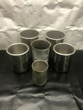 Vollrath Bain Marie Pot Lot Of 6 Stainless Steel Beaker Lab Container