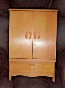 Image Is Loading VINTAGE 1950 039 S HANDMADE LARGE DOLL ARMOIRE