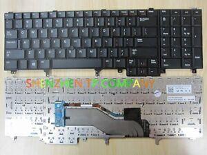 For Dell Latitude E6520 E5520 series Non-Backlit US Keyboard Black