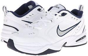 511a15b01829 Nike AIR MONARCH IV Mens White Metallic Silver MEDIUM and 4E WIDE ...