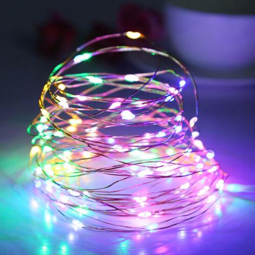UK~LED Micro Copper Wire String Fairy Lights Xmas Party DYI Light Decor USB Plug