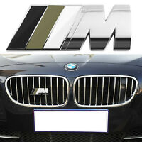 M3 M4 M5 For BMW ///M Front Gille Grill Emblem M badge Sticker Car Metal Decal