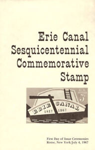 1325-FD-First-Day-Ceremony-Program-5c-Erie-Canal-150th-Stamp