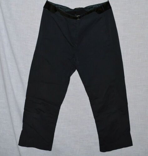 PRADA SZ 40 S SMALL 4 6 BLACK STRETCHY CAPRI PANTS