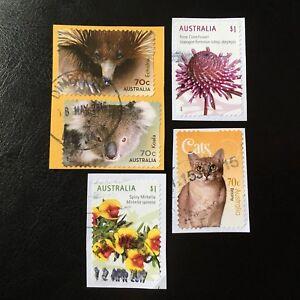 Lot-de-5-timbres-d-039-Australie-annee-2015-encore-sur-fragment-F66