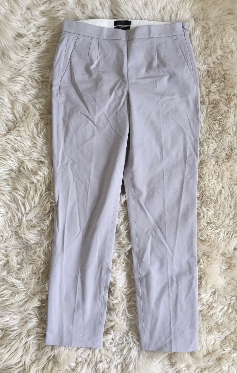 JCrew  90 Martie pants in bistretch cotton Size 2 Cloud Grey b8521 SPRING 2017