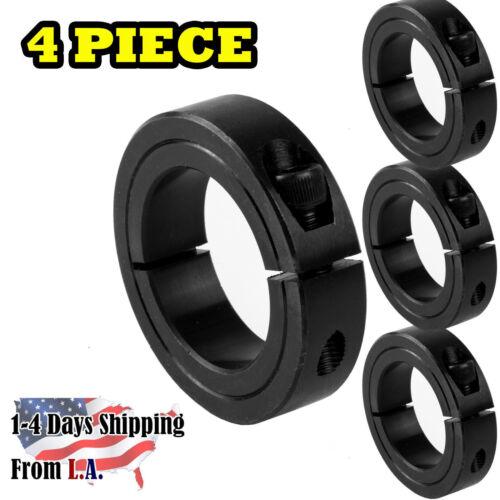 "4 PCS 1-3//4/"" Bore Single Split Shaft Collar Black Oxide Set Screw Style"