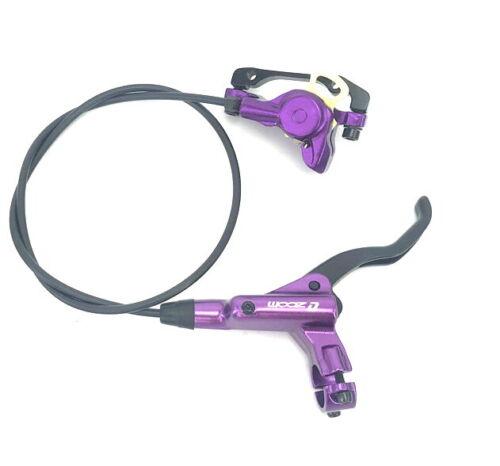 ZOOM MTB Mountain Bike Hydraulic Disc Brake Lever Calipers Front Rear set Purple