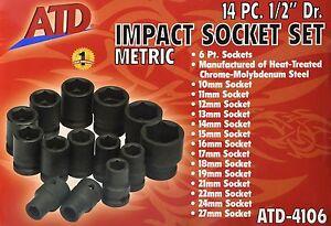 Drive 1 6 Impact Standard 2 Metric Rel Point ATD 14 Inc 4106 Products Pc YxTApq81