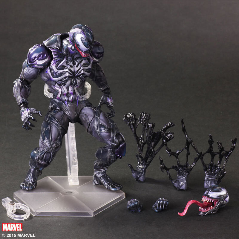 Halloween Play Arts KaieT The Avengers Spiderman Venom Model Joint Movable Toy