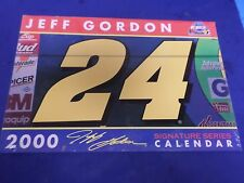 JEFF GORDON  2000, NASCAR SIGNATURE SERIES CALENDAR, SEALED IN PLASTIC WRAP (NEW