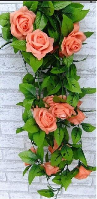 Fashions Artificial Silk Flowers Rose Vine Flowers Vine Wedding Wall Home Decor